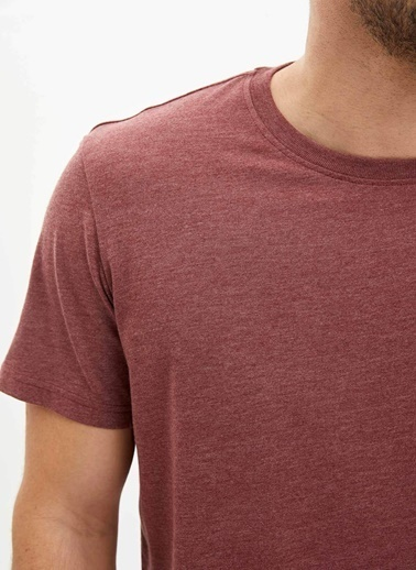 DeFacto Basic Regular Fit T-Shirt Bordo